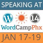 Speaking at WordCamp Phoenix 2014